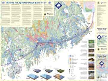 Maine's Ice Age Trail map